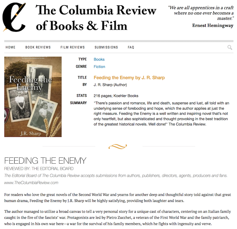 Columbia-Review-of-Feeding-the-Enemy-by-JR-Sharp